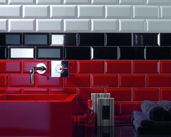 Ribesalbes Metro csempe Rojo, PIROS 7,5 x 15 cm – Burkolatbolt.com